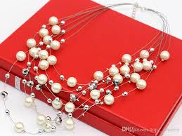 big fashion pearl necklace images Wholesale hot fashion pearl necklace ladies europe and the united jpg