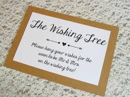 bridal shower wish wishing tree card for bridal shower or wedding 5x7