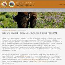 United States Department Of Interior Bureau Of Indian Affairs The Words U201cclimate Change U201d Have Been Scrubbed From The Interior