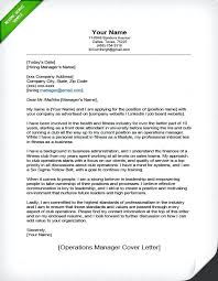 sample executive cover letter for resume example of operations