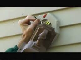 how to install vinyl siding light mounting blocks replacing an exterior light fixture video youtube