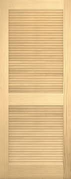 Louvered Doors Interior Discount 6 8 Traditional Louver Louver Pine Interior Wood