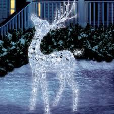 outdoor reindeer decorations lighted