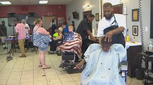 pcc greenville barbershop team up to offer haircuts backpacks to