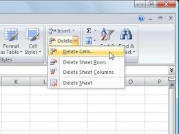 deleting cells and data in excel 2007 dummies