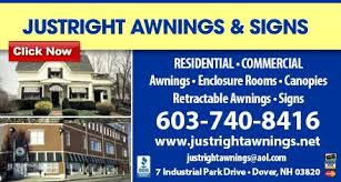Powered Awnings Just Right Awnings U0026 Signs Signmaking 7 Industrial Park Dr