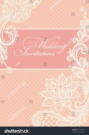 Vintage Lace Wedding Invitations Wedding Invitation Lace Background Place Text Stock Vector