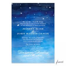 vista print wedding invitation starry night wedding invitation smitten on paper night sky