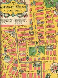 Nyc Traffic Map An Incredible Map Of 1930s Greenwich Village Ephemeral New York