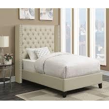 King Upholstered Bed Frame Shop Scott Living Beige California King Upholstered Bed At Lowes Com