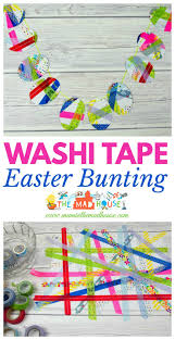 washi tape easter bunting process art mum in the madhouse