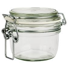 bormioli rocco fido glass jar with clear lid 125ml bormioli