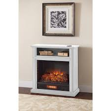 Electric Fireplace With Mantel White Electric Fireplaces Fireplaces The Home Depot