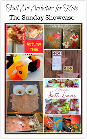 fall art activities for kids the sunday showcase