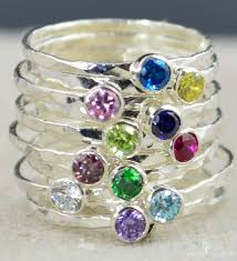 stacking birthstone rings stackable birthstone rings stackable gemstone rings