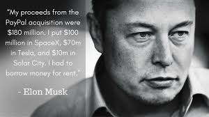 elon musk paypal elon musk my proceeds from the paypal acquisition were 180