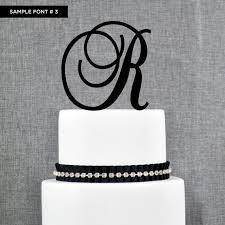 s cake topper monogram cake topper m z favors