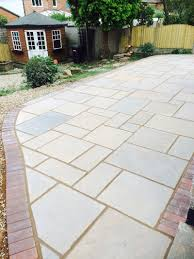 Indian Sandstone Patio by Local Leigh Patio Design Leigh Block Paving U0026 Patios