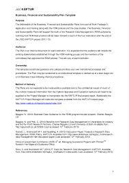 kaptur business plan template public