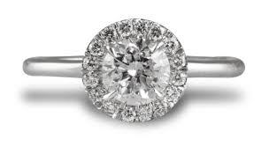 plain band engagement ring micro pave custom engagement ring cushion cut halo style