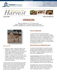 how to preserve venison by utah state university extension issuu