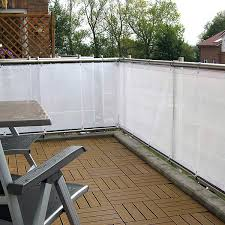 sichtschutz balkon grau mesh gewebe lavitio