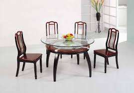 Glass Top Dining Room Table And Chairs by Dining Room Set With White Leather Chairs And Glass Table Top