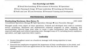 Retail Sales Manager Resume Samples by Transport Operations Manager Sample Resume Transport Operations