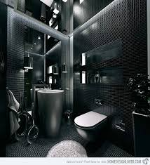 Sleek Ideas For Modern Black And White Bathrooms Home Design - Black bathroom designs