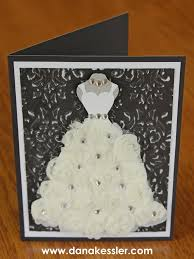 bridal cards bridal shower wedding embossed card cricut explore