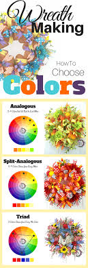 wreath how to choose colors color wheels wreaths and wheels