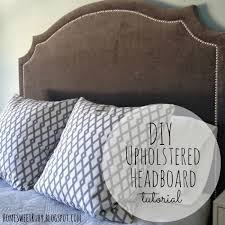 Diy Pillow Headboard Diy Upholstered Headboard Home Sweet Ruby