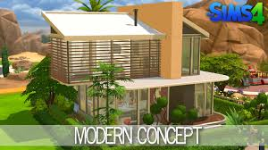 the sims 4 house building modern concept speed build youtube