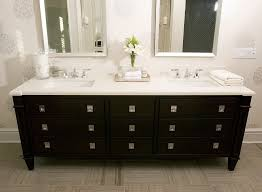 Modern Black Bathroom Vanity Black Double Vanity Contemporary Bathroom Tara Fingold Interiors
