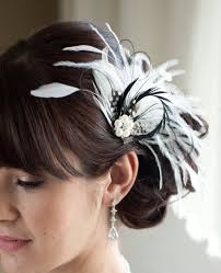 feather hair accessories wedding hair accessory bridal feather fascinator black and