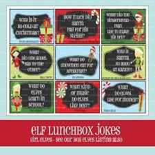 printable elf girl girl elf lunchbox jokes printable christmas lunchbox notes