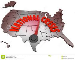 United States Map Clip Art by National Crisis Usa Map United States America Stock Photography