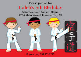 karate birthday invitations for kids u2013 bagvania free printable
