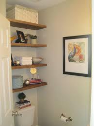 small bathroom shelf ideas storage in small half bathroom hometalk