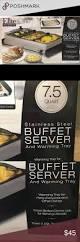 Elite Platinum Stainless Steel Buffet Server by Elite Platinum Stainless Steel Buffet Server Nwt Buffet Server