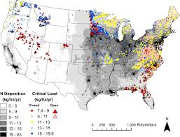 Large Map Of United States by Ucr Today Nitrogen Deposition Map