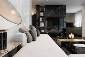 modern interior home three luxurious apartments with dark modern interiors