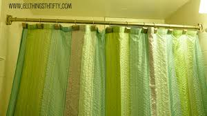 Green Curtain Pole Curved Shower Curtain Rod All Things Thrifty