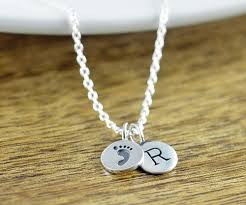footprint necklace personalized baby footprint necklace new gift sterling silver charm