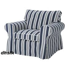 Ektorp Armchair New Ikea Ektorp Armchair Slipcover Cover Toftaholm Blue White Stripe