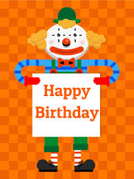 two cheerful clowns birthday children bright stock photo royalty birthday clown card for kids birthday greeting cards by davia