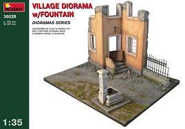 bestseller models 1 35 village diorama w fountain diorama base