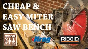 best black friday deals on workbenches how to make a cheap and easy miter saw workbench w kreg