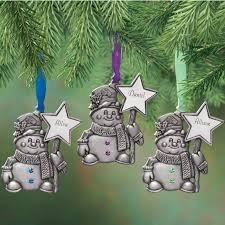 personalized pewter birthstone snowman ornament kimball