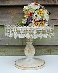 wedding cake shabby chic vintage style rustic pedestal cake